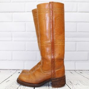 VINTAGE Texas Made Motorcycle Riding Campus Boots